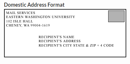 the format for domestic address